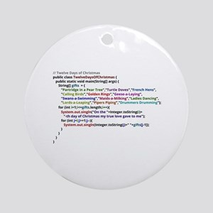 Twelve Days Of Christmas In Java Ornament (Round)