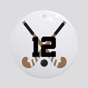 Field Hockey Number 12 Ornament (Round)