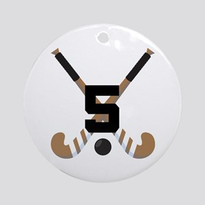 Field Hockey Number 5 Ornament (Round)