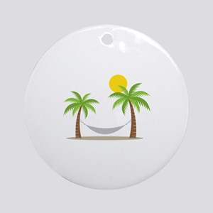 Hammock & Palms Ornament (Round)