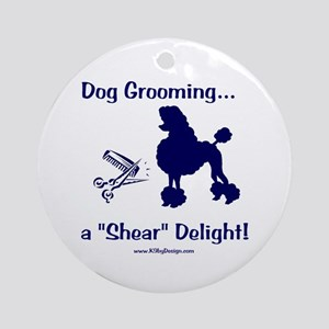 Grooming Shear Delight Ornament (Round)