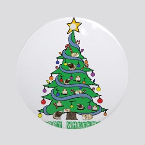 Merry Wheekmas! Guinea Pig Christmas Tree Round Or