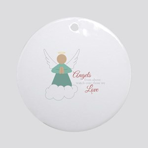 Angels From Above Ornament (Round)