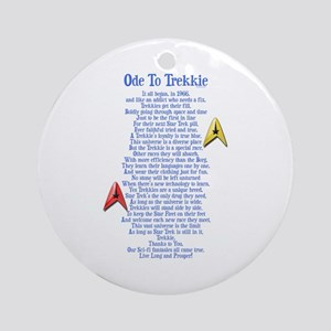 Ode To Trekkie Ornament (Round)