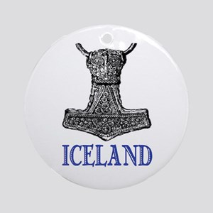 ICELAND (THOR'S HAMMER) Ornament (Round)