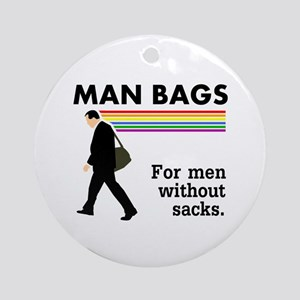 Man Bags Ornament (Round)