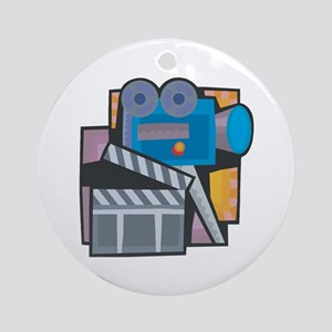 Film Making Ornament (Round)