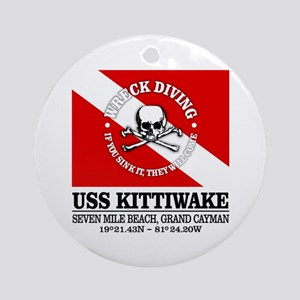 USS Kittiwake Round Ornament