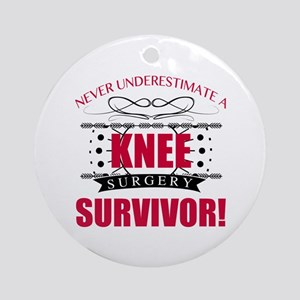 Knee Surgery Survivor Round Ornament