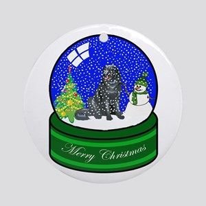 Snow Globe Newfoundland Ornament (Round)