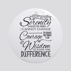 Serenity Prayer (chalk Text) Round Ornament
