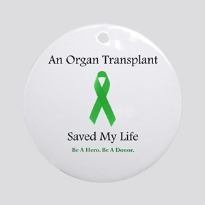 Saving Transplant Ornament (Round)