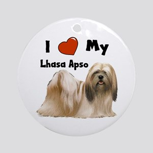 I Love My Lhasa Apso Ornament (Round)