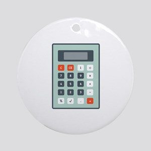Calculator Ornament (Round)