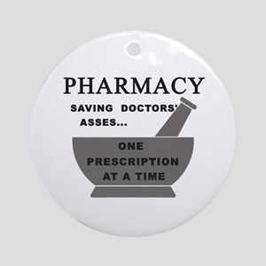 pharmacy saving doctors Round Ornament