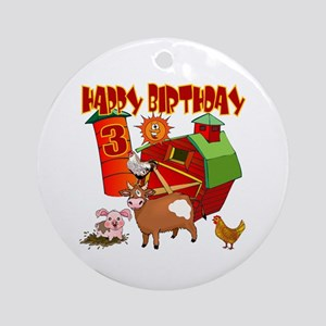 Barnyard 3rd Birthday Keepsake Ornament
