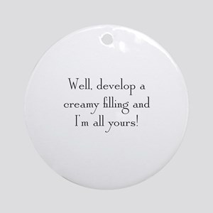 Creamy Filling Round Ornament