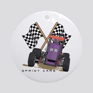 Sprint Cars Ornament (Round)