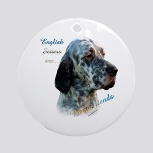 English Setter Best Friend Ornament (Round)