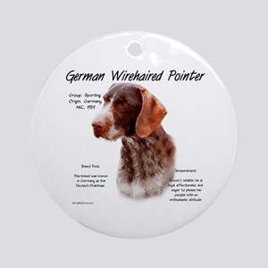 German Wirehaired Pointer Round Ornament
