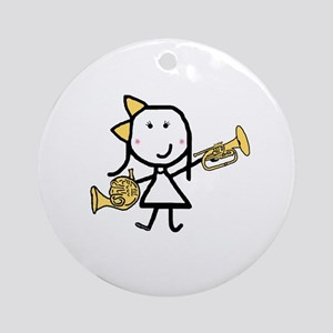 Mello & French Horn Ornament (Round)