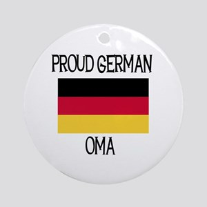 Proud German Oma Ornament (Round)