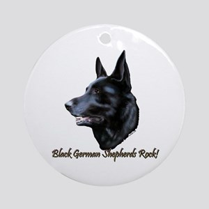 Black Sheps Rock Ornament (Round)