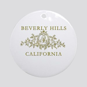 Beverly Hills CA Ornament (Round)
