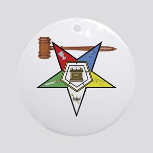 OES Past Worthy Matron Ornament (Round)