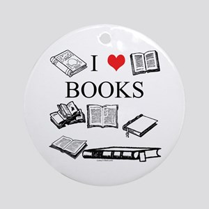 I (heart) Books Ornament (Round)