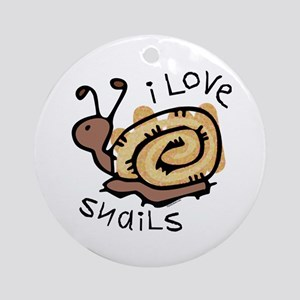 I Love Snails Ornament (Round)