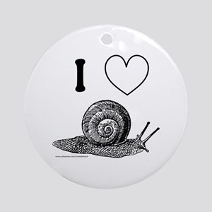 I HEART SNAILS Ornament (Round)