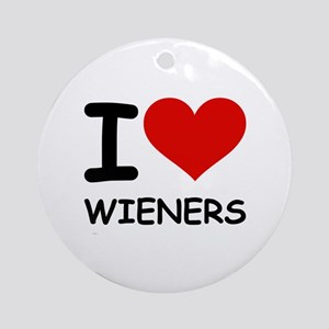 I LOVE WIENERS Ornament (Round)
