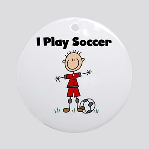 Boy I Play Soccer Ornament (Round)