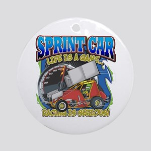 Sprint Car Life Ornament (Round)