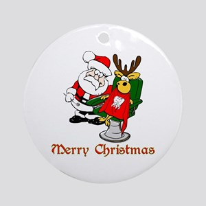 Dentist Christmas Ornament (Round)