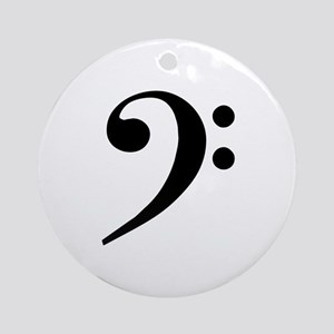 Bass Clef Ornament (Round)
