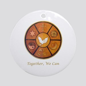 "Interfaith ""Together, We Can"" Ornament (Round)"
