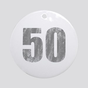 Stonewashed 50th Birthday Ornament (Round)