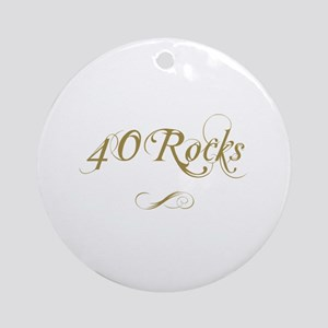 Fancy Gold 40th Birthday Ornament (Round)
