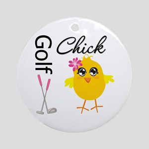 Golf Chick v2 Ornament (Round)
