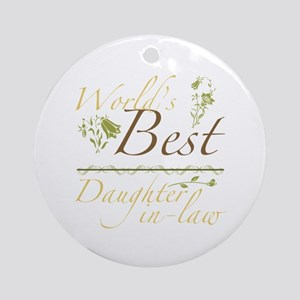 Vintage Best Daughter-In-Law Ornament (Round)