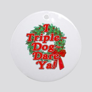 Triple Dog Dare A Christmas Story Ornament (Round)