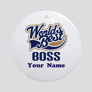 Personalized Boss Ornament (Round)