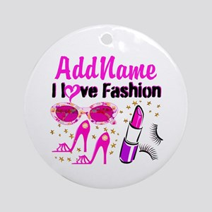 LOVE FASHION Ornament (Round)