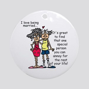 Marriage Humor Ornament (Round)