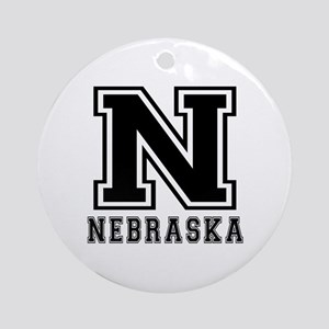 Nebraska State Designs Ornament (Round)