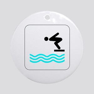 Diving Icon Keepsake (Round)