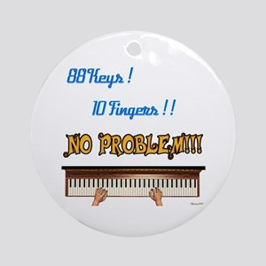 88 Key 10 Fingers Ornament (Round) Ornament (Round