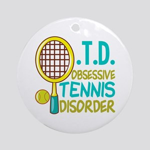 Funny Tennis Round Ornament